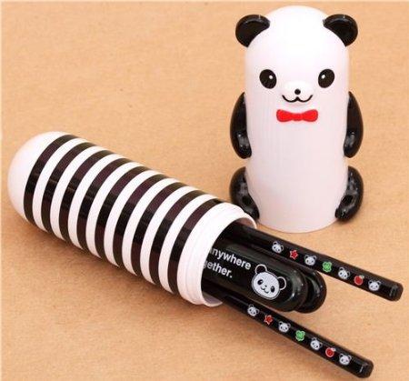 .amazon kawaii Set posate per Bento panda a righe dal Giappone