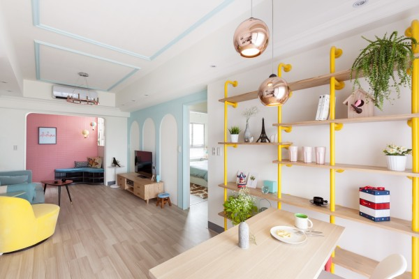 colori macaron pastel-apartment-design-600x400