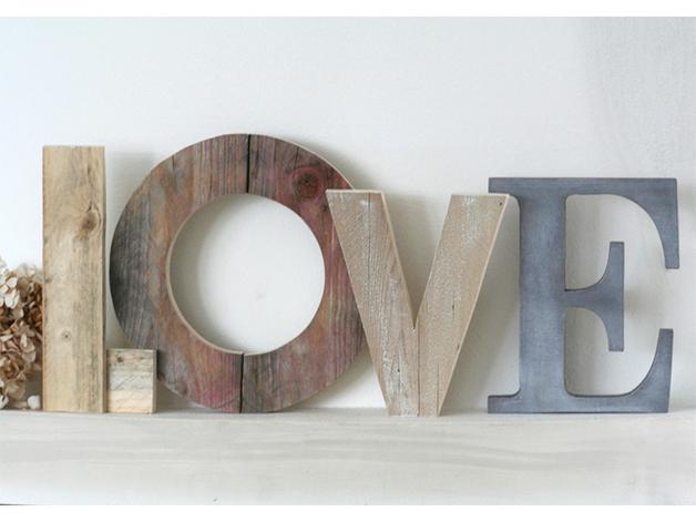 Lettering design e fai da te per arredare con stile architettura e design a roma - Parete in legno fai da te ...