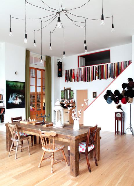 lampadario eclectic-dining-room