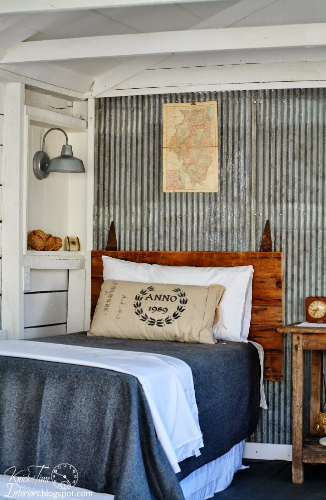 letto Barn Door Headboard Guest House Photos via Knick of Time