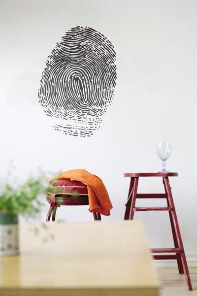 parete impronte sticker adesivo ferm living