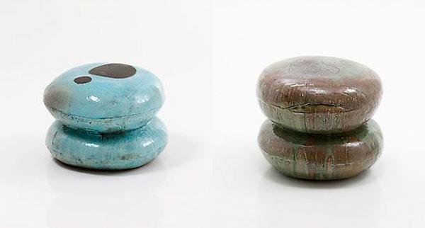 sedia di lee hun chung sgabello in ceramica smaltata anche i designer coreani si cimentano con i macaron