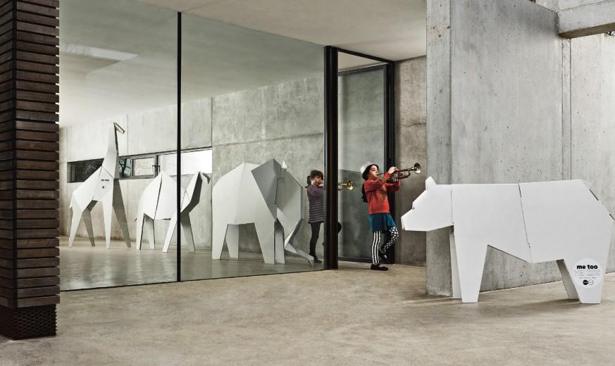 aaa la collezione my zoo ci offree la possibilità di avere in casa giganti origami di animali in cartone!