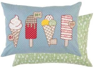.amazon cuscino gelato ghiacciolo, cono ecc graziosa federa double faces di Clayre & Eef