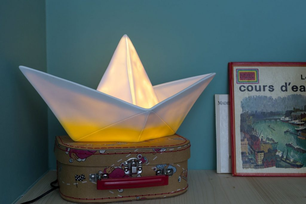 .amazon goodnight light lampada barca origami