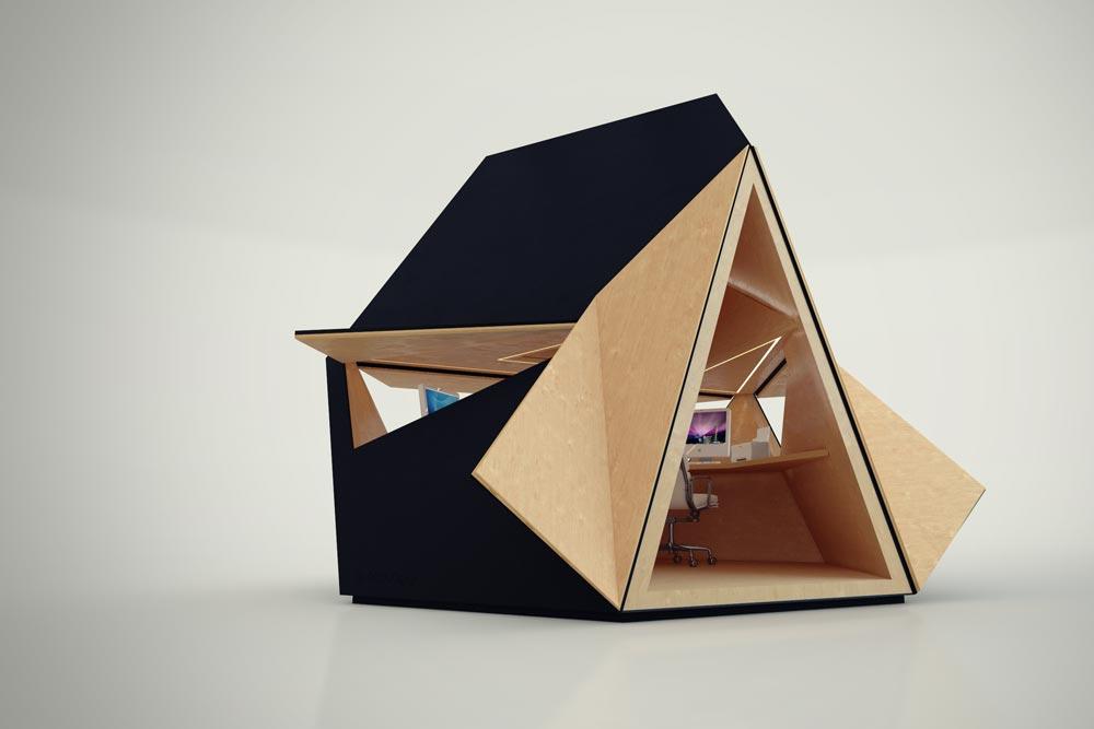 arch Tetra capannone - Ufficio Giardino modulare ispirata origam tetrashade