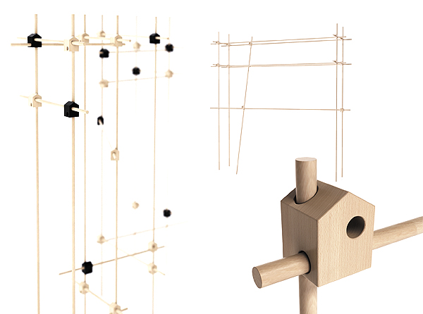 design Ferma è un sistema modulare che può essere utilizzato come schermo-parete elemento di arredamento o come un oggetto-art by michael sholk
