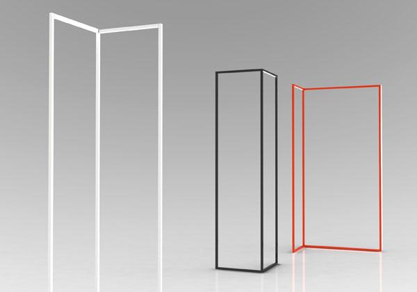 design minimale salone del mobile 2013 spigolo è l'innovativa lampada disegnata da studiocharlie per omikron design paravento di luce e volumi virtuali