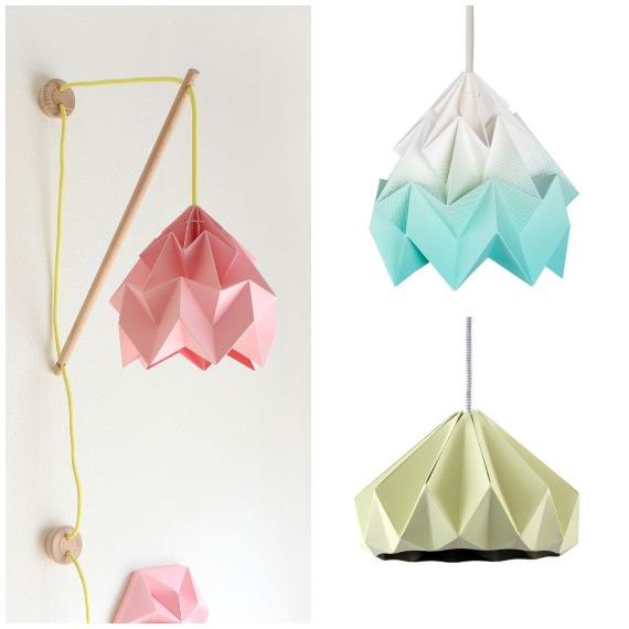 lampade origami di studio snowpuppe