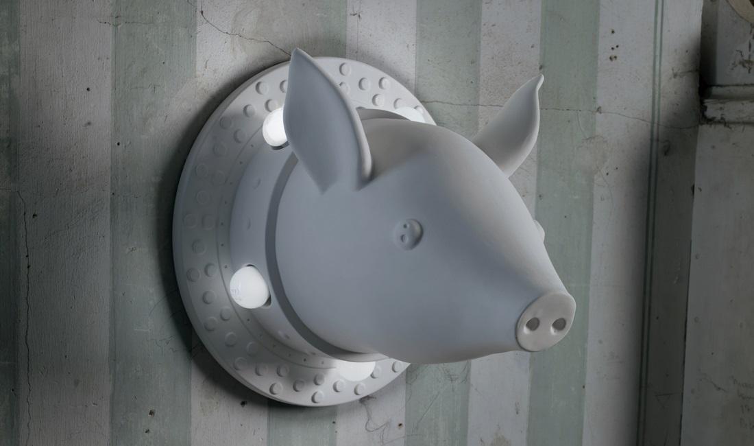 maiale lampada porcamiseria di Karman Italia