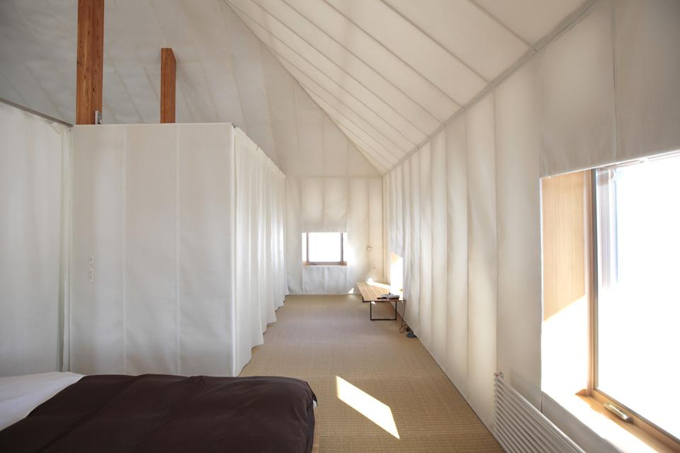 tende casa sperimentale di kengo kuma