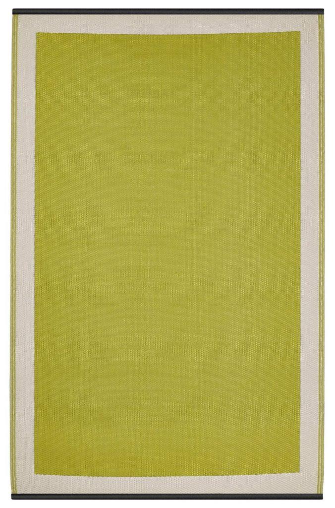 .amazon Fab Habitat - Tappeto per interni ed esterni, colore Verde-bianco, plastica, giallo,180x270