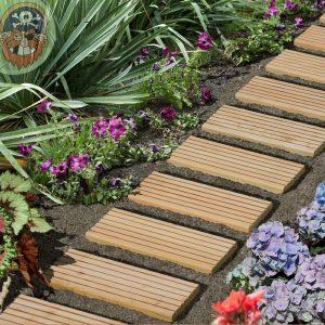 Di Gartenpirat il percorso da giardino con tavolette di legno 25×250 ...
