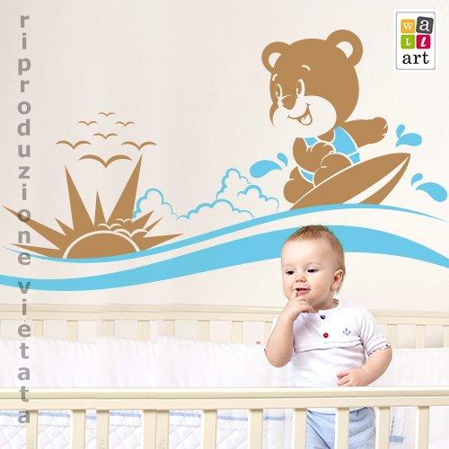 .amazon anche gli orsetti fanno il surf! di wall art
