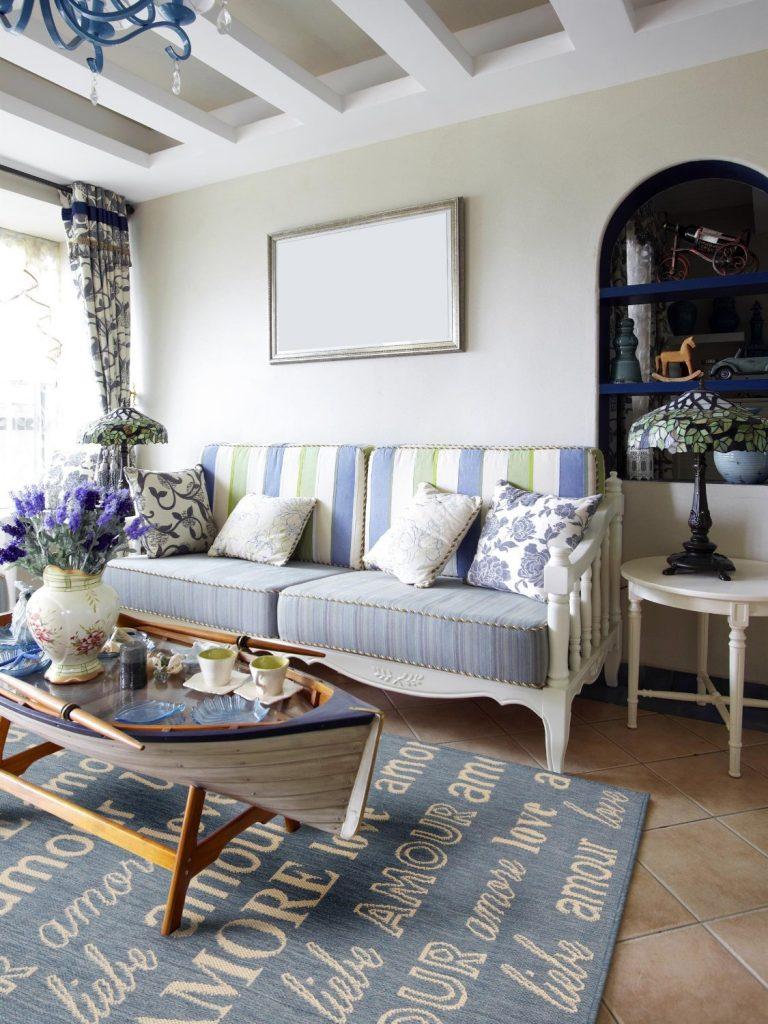 .amazon benuta Tappeto moderno Tessuto Piatto Dawn Love Azzurro 200x285 cm - Marchio di qualità Oeko-Tex Standard 100 - 100% Polipropilene - Lettre