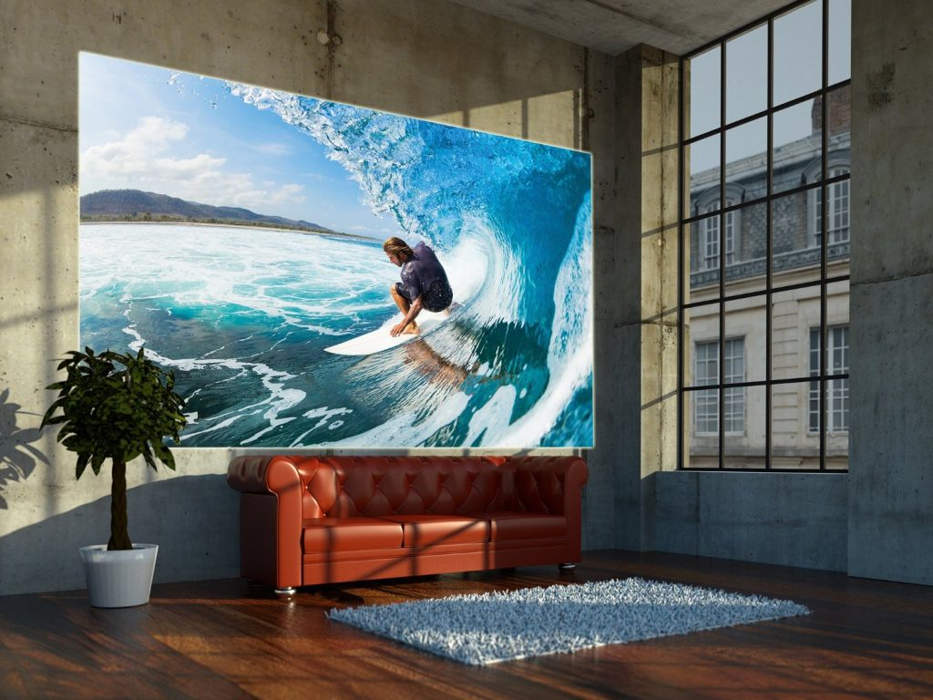 .amazon foto murale di great-art con surfista tra le onde varie dimensioni