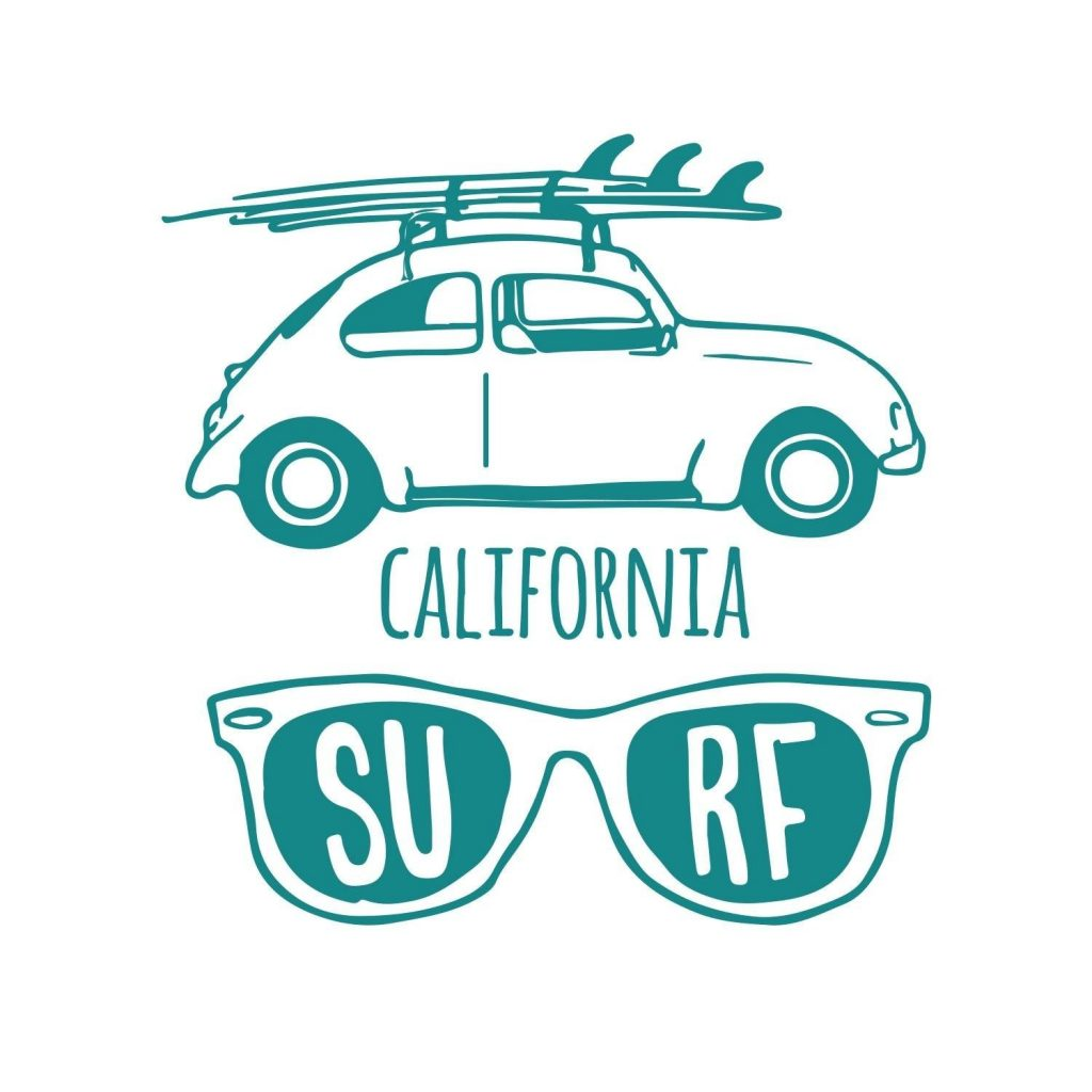 .amazon stickers Adesiviamo® California Surf in tre dimensioni