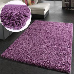 .amazon tappeto shaggy viola può arrivare fino a 300x400 o tonod al diametro di 2mt
