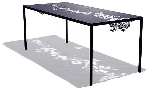 black tavolo creato da Mari Relander & Anna-Katriina Tilli per Selki-Asema