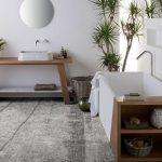 carta da parati inkiostro bianco adatta a pavimento anche in bagno