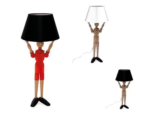 lampada da terra a forma di pinocchio di valsecchi