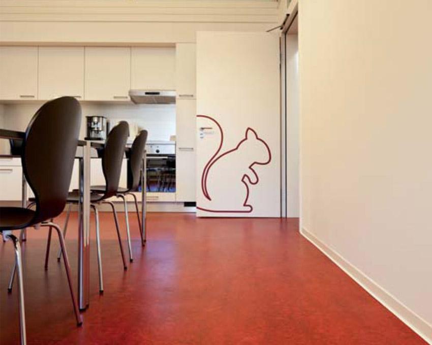 linoleum pavimenti-in-linoleum a teli antistatico spring design
