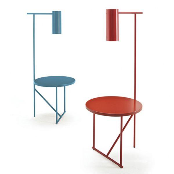 lucignolo tavolinoLAMPADA design Alessandro Scandurra PER Frighetto in metallo verniciato