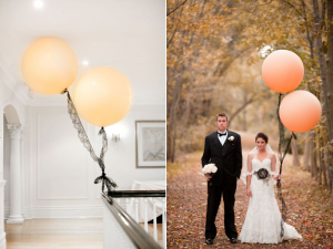 matrimonio romantic-wedding-ideas-balloon-decor-peach-black-lace.original