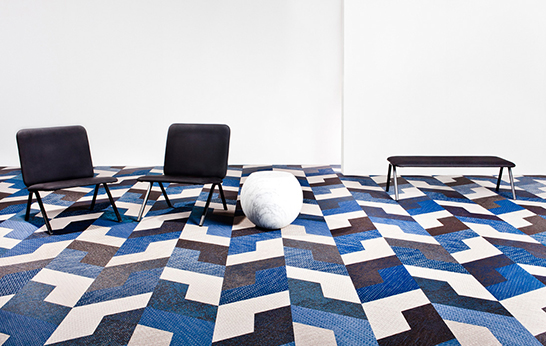 moquette Svedese pavimenti marchio Bolon ha recentemente introdotto una nuova forma di piastrelle chiamato Ala