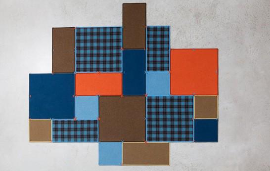 tapp il marchio belga buzzispace ha realizzatio questa nuova soluzione una pavimentazione modulare chiamata buzziPatch tappeti rett e quadrati abbinati in configuraz uniche