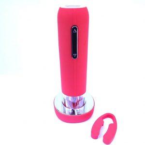 Rosso-Cavatappi elettrico ricaricabile, Design con colpito gomma in ABS