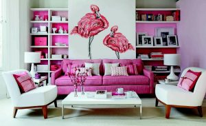 Wall Decals Flamingos PIXERS
