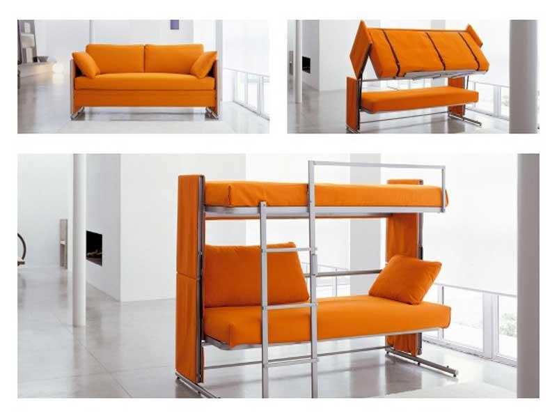 a scomparsa L'azienda di mobili CLEI ha creato un divano che si trasforma in letto a castello