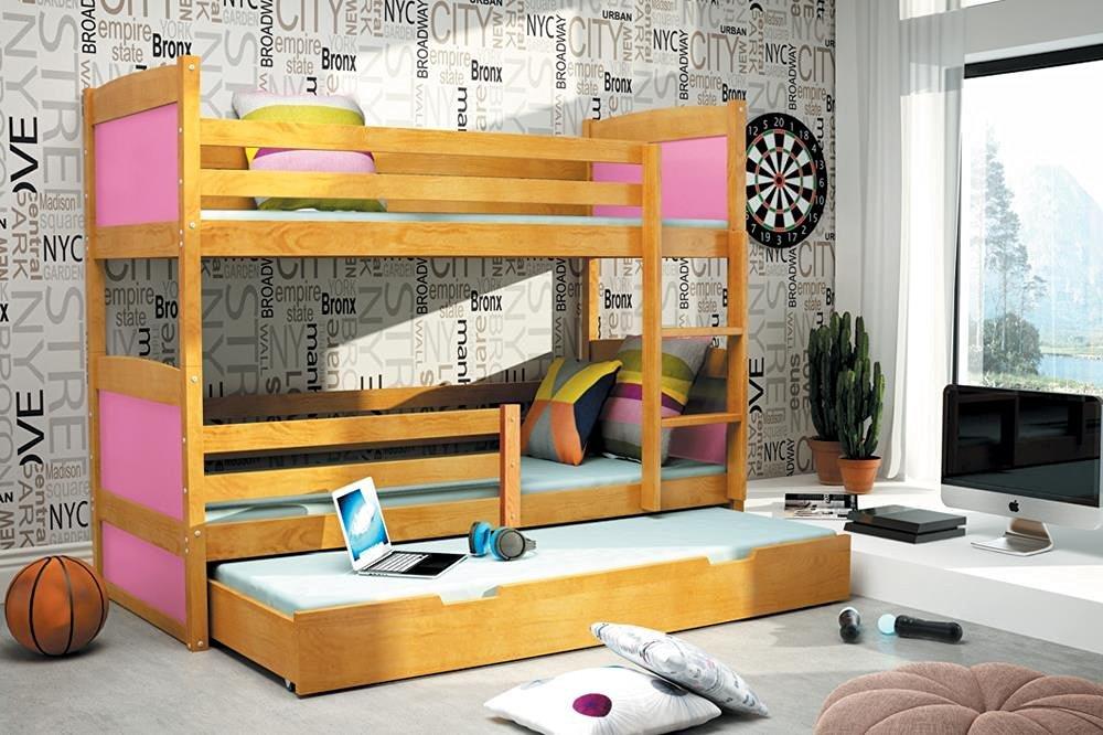 .amazon LETTO A CASTELLO TRIPLO 200 90 ONTANO di interbeds con il letto per l'amichetto