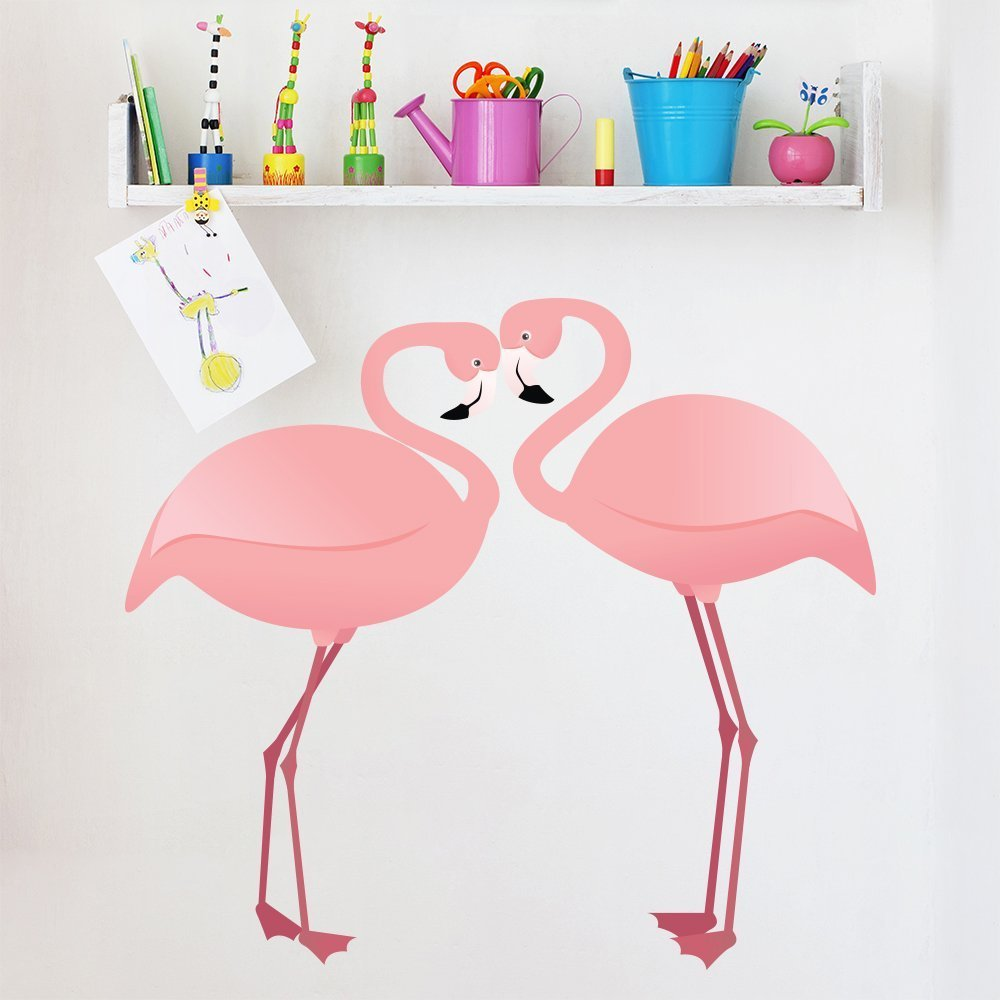 .amazon Paio Di Rosa Fenicotteri animali Colore Wall Stickers Home Decor Art Stickers disponibile in 8 taglie Medio Digitale di ikon wall stickers