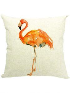 .amazon YICHUN, copriletto decorativo federe per cuscino, motivo fenicottero NON SOLO ROSA