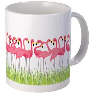 .amazon di CafePress Hayton Imports-tazze, colore rosa fenicottero, Ceramica, Bianco, s