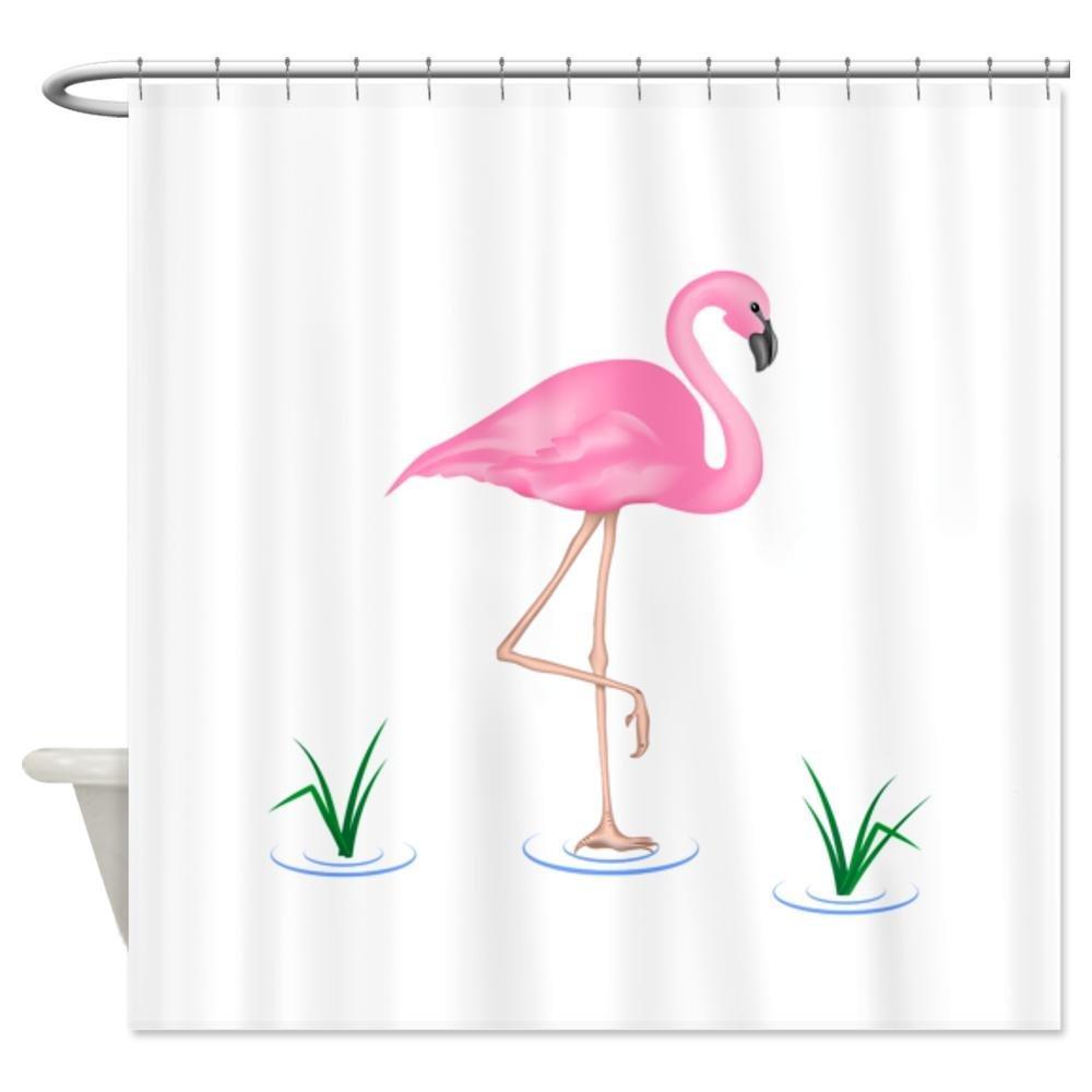 .amazon fenicottero arredamento tenda doccia CafePress-Tenda per doccia, motivo enicotteri, colore bianco Standard