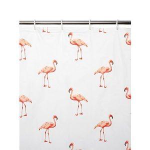 .amazon fenicottero arredamento tenda doccia Deluxe, colore rosa fenicottero in plastica PEVA, Tenda da doccia impermeabile 180 x 180 cm con 12 cm, Tenda con occhielli in metallo