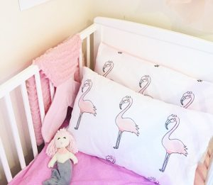 baby flamingo_pillowcase_pre-order