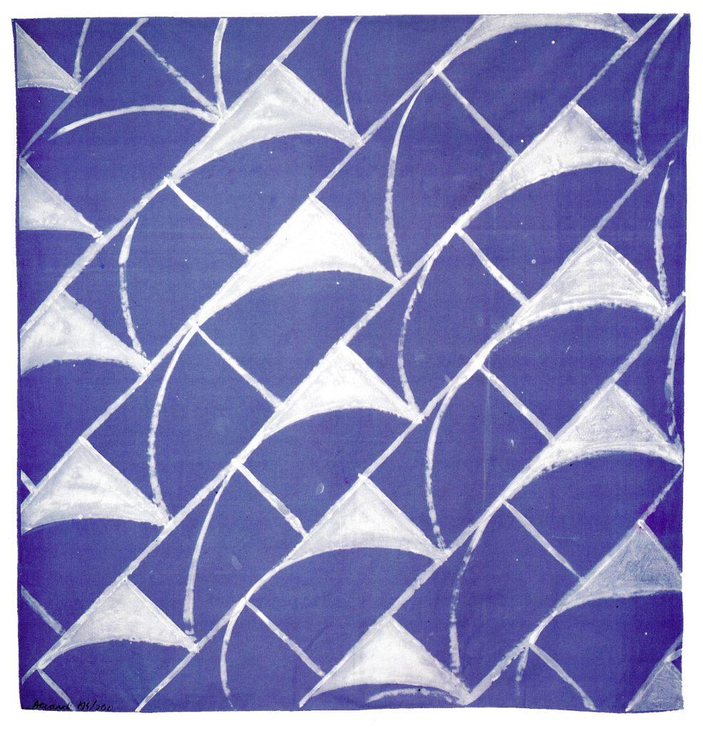 carla accardi grande tela 1987 serigrafia su tela di cotone firmata