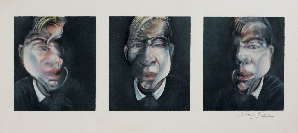 francis bacon three studies for a self-portrait 1981 litografia a colori firmata