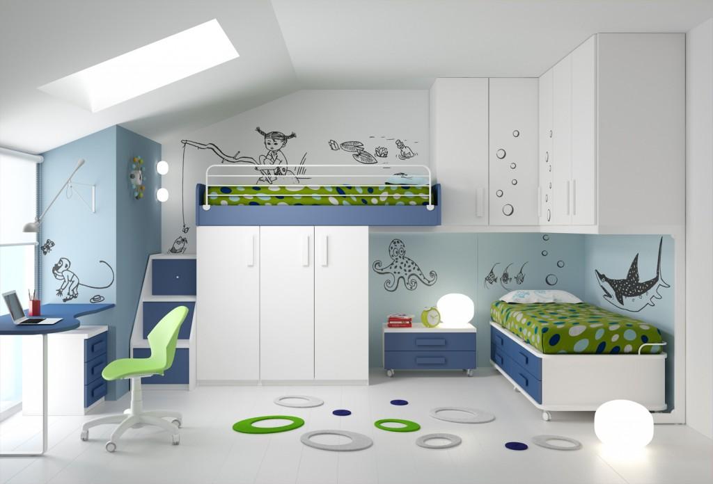 10 soluzioni per una cameretta doppia architettura e for Piani casa 2 letti