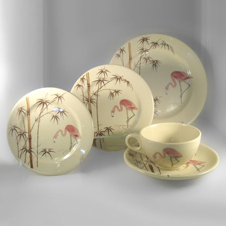 tavola pattern Dinnerware partial set by Adobeware,