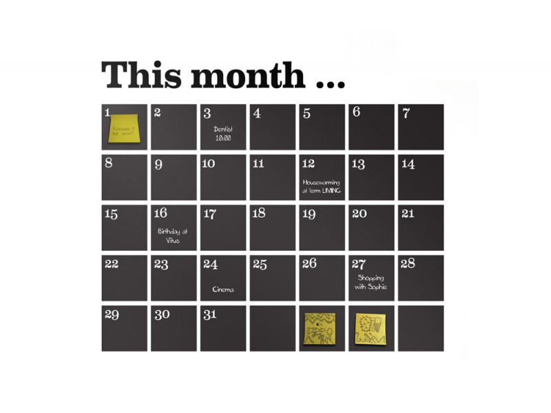 accessori calendario Il-planning da mureo di ferm living