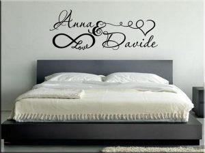 Parete testata letto dipinta canonseverywhere - Stickers testata letto ...