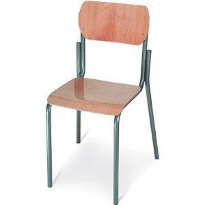 .amazon di Europrimo la classica sedia da scyola in tubolare di metallo