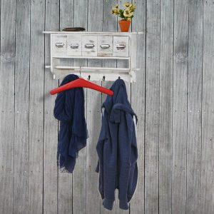 .amazon di mendler Serie vintage appendiabiti attaccapanni T71 legno paulonia 5 cassetti 13x65x32cm ~ bianco con targhetta.jpg22