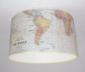 .amazon tophaus design Paralume realizzato a mano 28cm - Cavallini mappa del mondo atlante 46.24